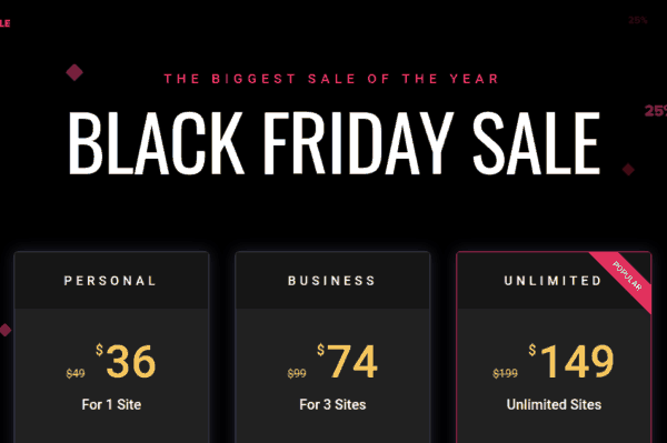 elementor black friday sale